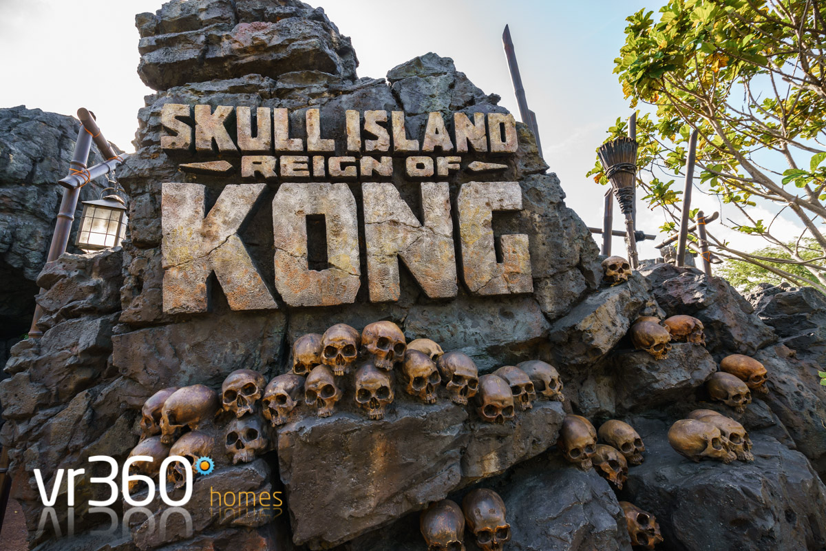 Skull Island Reign of Kong Attraction Entrance - WOW!
