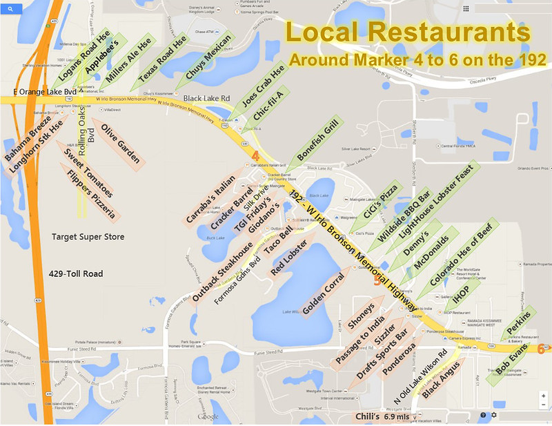 Restaurants on HWY192 in Kissimmee near Disney