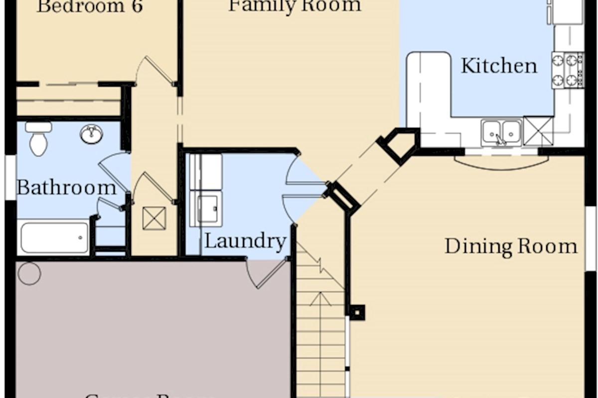 Luxury 6 bed 4 bath windsor hills villa with harry potter for Windsor homes floor plans