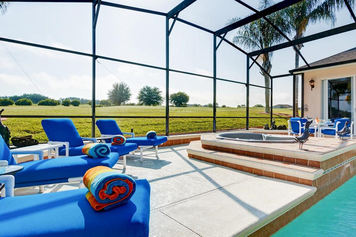 Luxury 4 bed 3 bath disney golf view villa on highlands - Luxury 4 bedroom villas in orlando florida ...