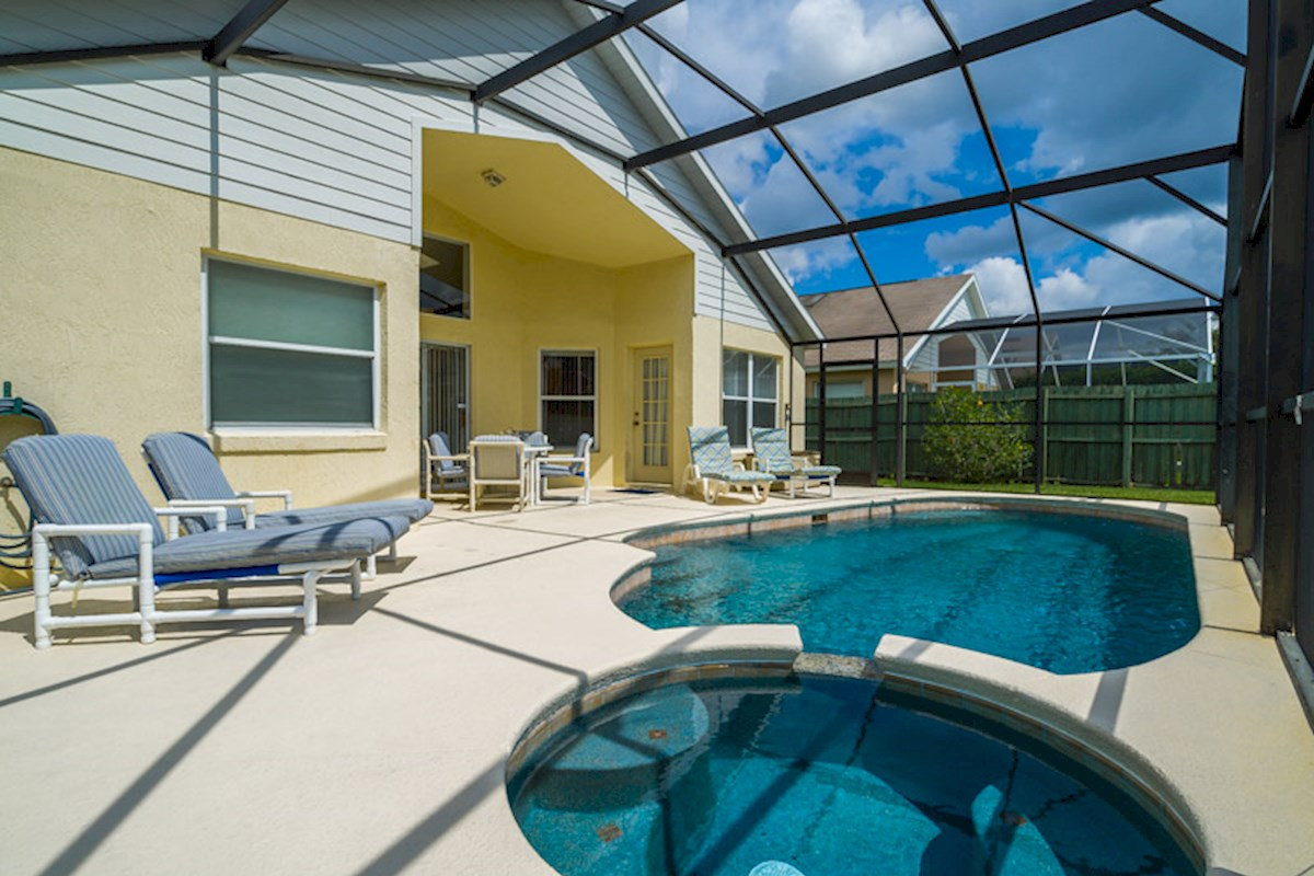 Indian Creek 4 Bedroom Orlando Villa Pool Area
