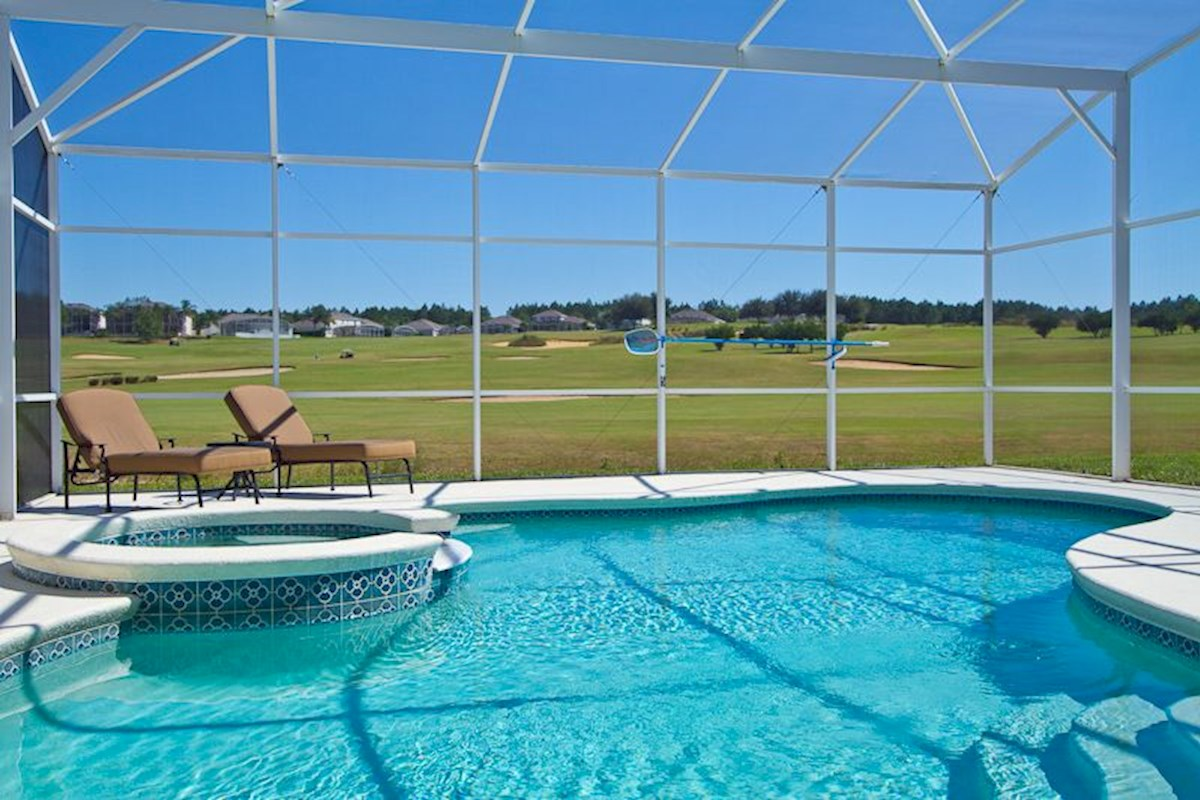 Luxury Pool Area with Golf Course View