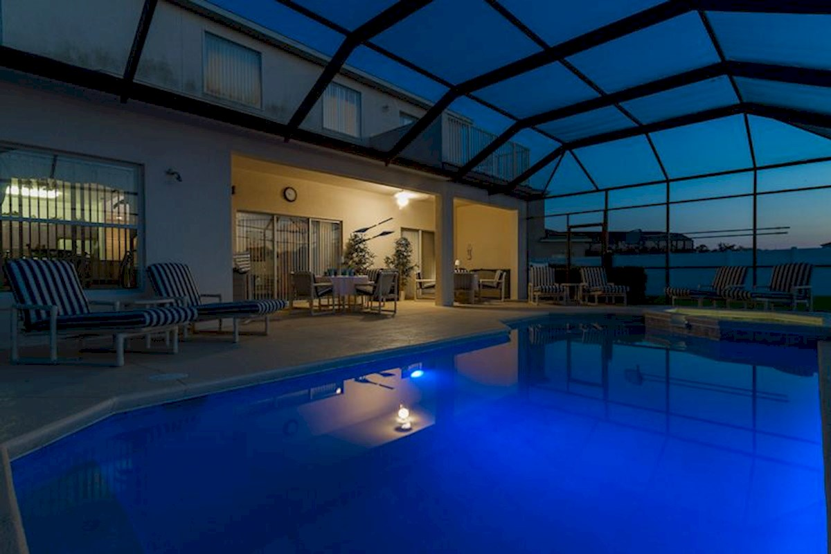 Cumbrian Lakes Villa with Night Pool Lights